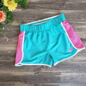Adidas | Teal & Pink Athletic Shorts